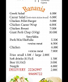Banania Eat - Drink - Play Menu Page