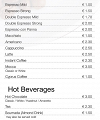 VIVO Coffee (Stavrou Ave) Menu Page
