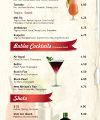 The New Horizon Bar & Restaurant Menu Page