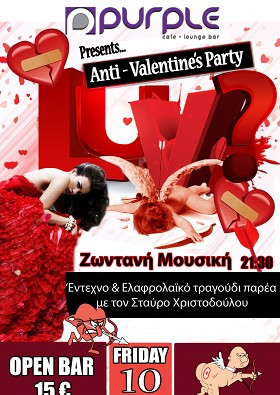 Purple Anti Valentine S Party Nicosia Cyprus Activecyprus Com